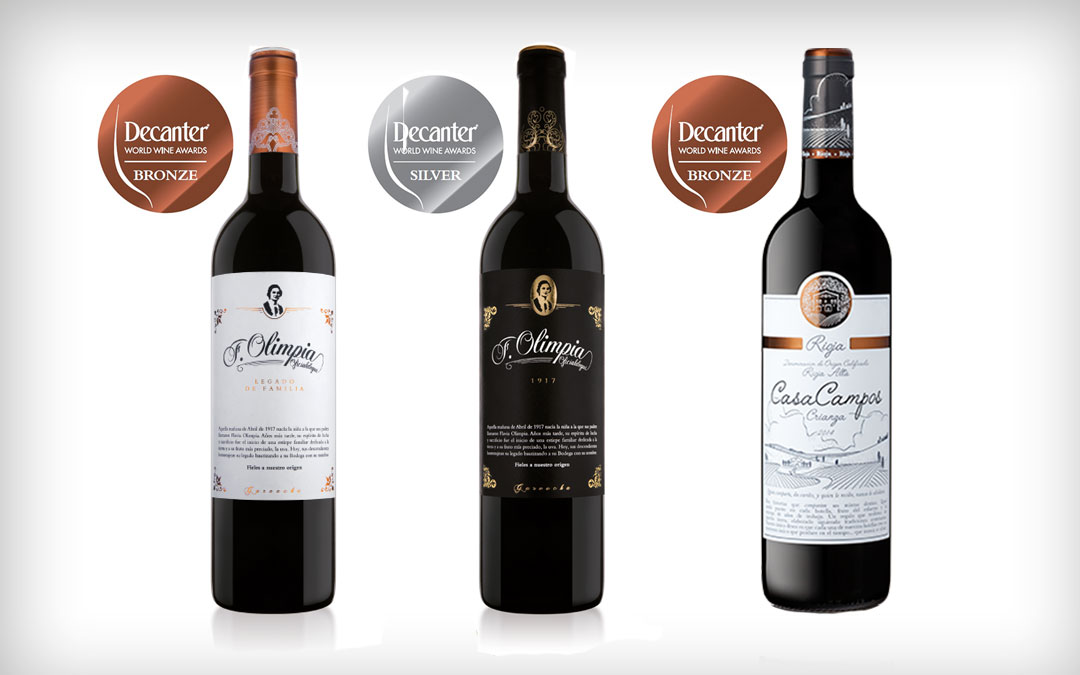 Triplete de medallas en Decanter 2019